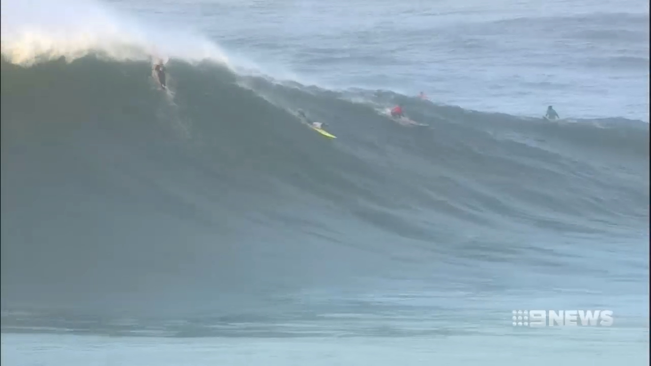 Big wave surfers take on Nazare