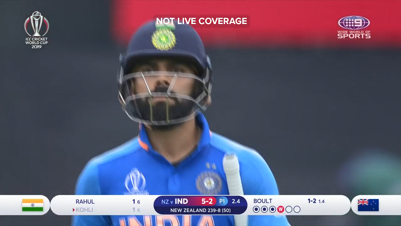 India reeling after Kohli blow