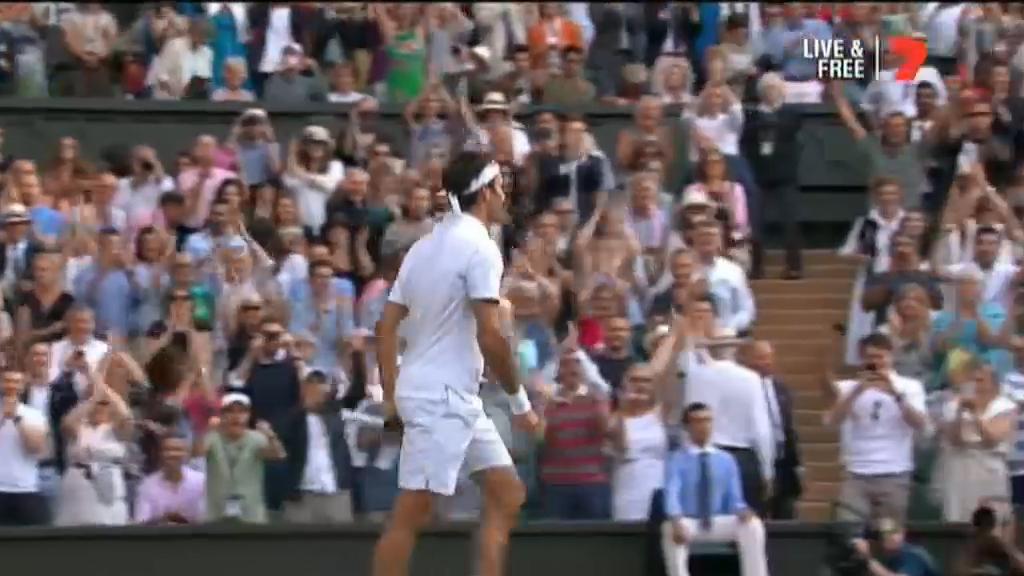 Federer advances to Wimbledon final
