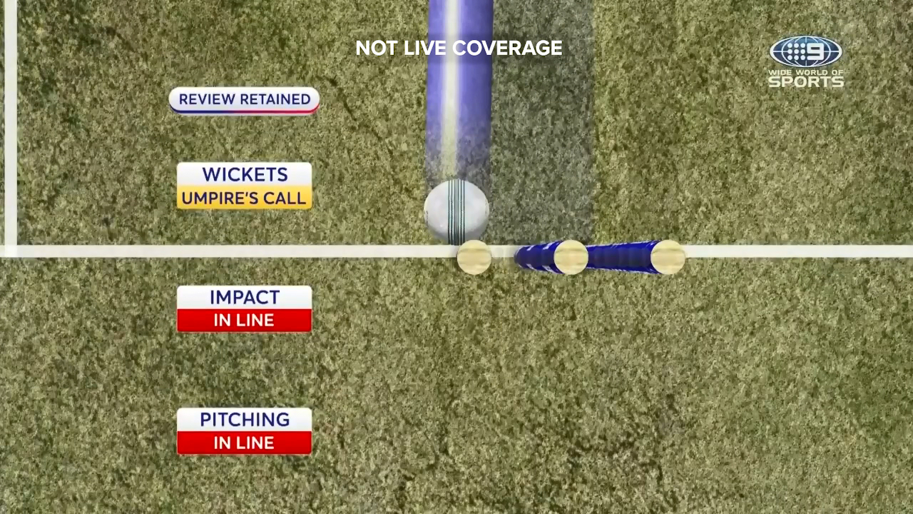 Trent Boult missed out on a first ball wicket via DRS by the narrowest of margins