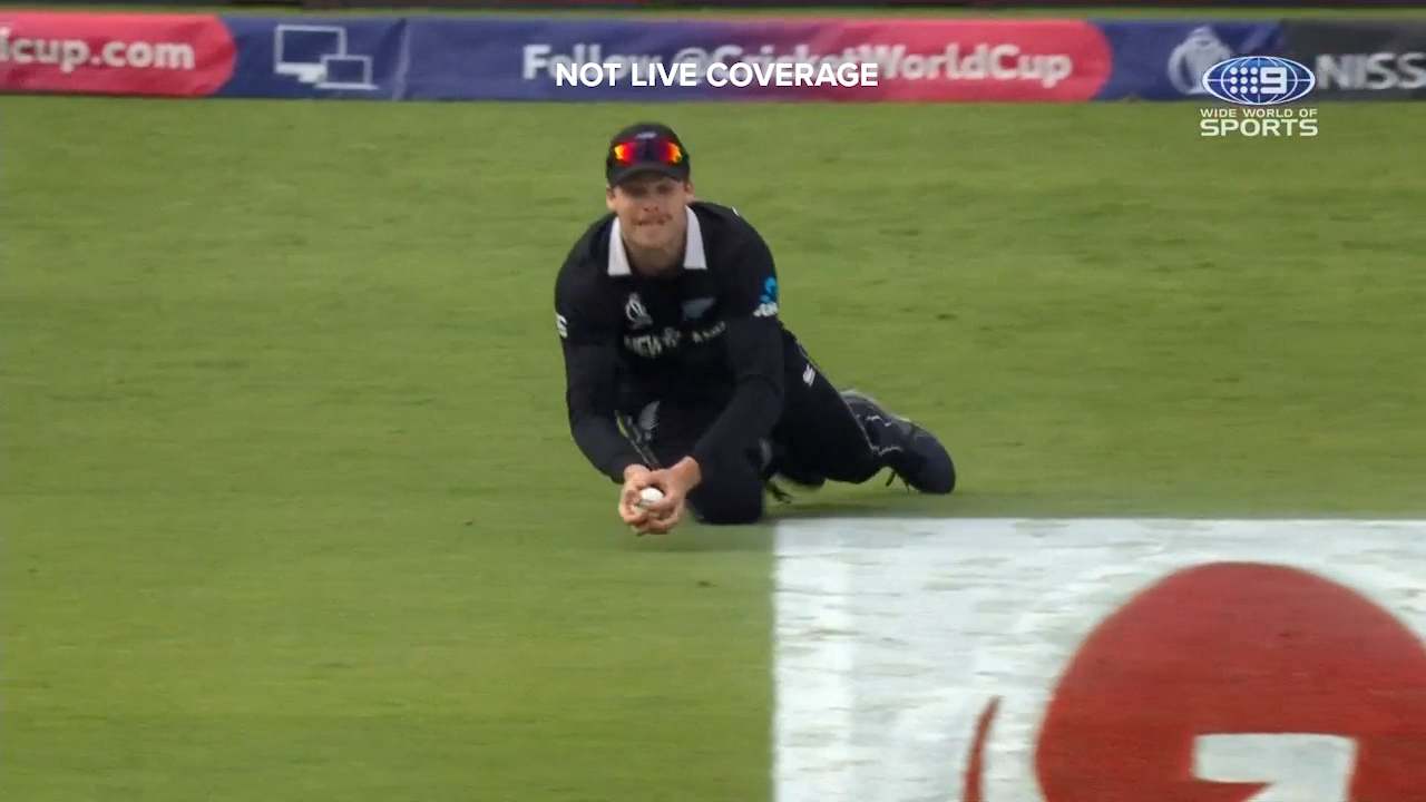 Lockie Ferguson took a brilliant diving catch to dismiss Eoin Morgan