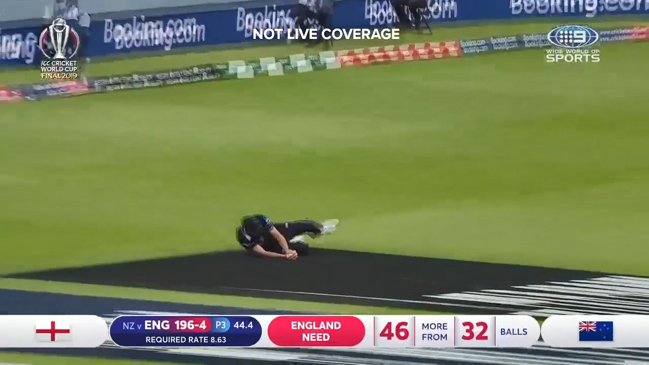 Sub fielder Tim Southee took a great catch to dismiss Jos Buttler