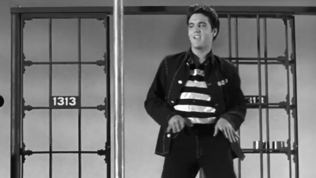 Elvis Presley performs 'Jailhouse Rock'