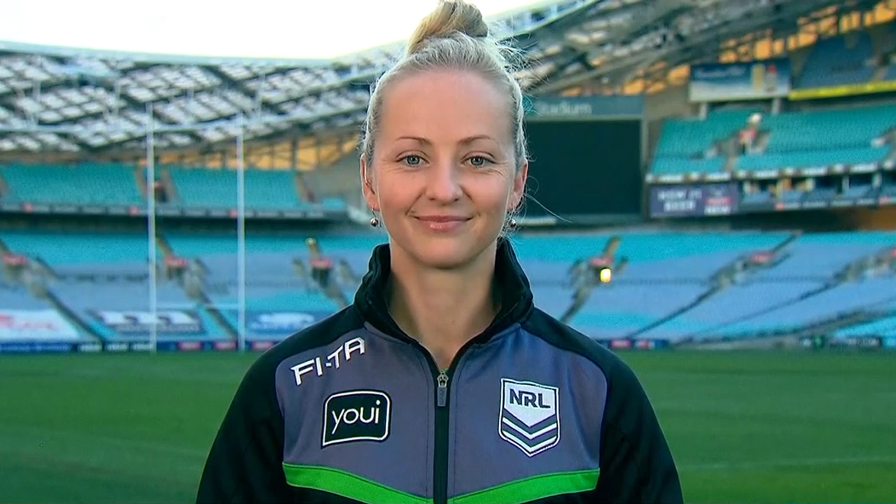 First female NRL match referee Sharpe makes history