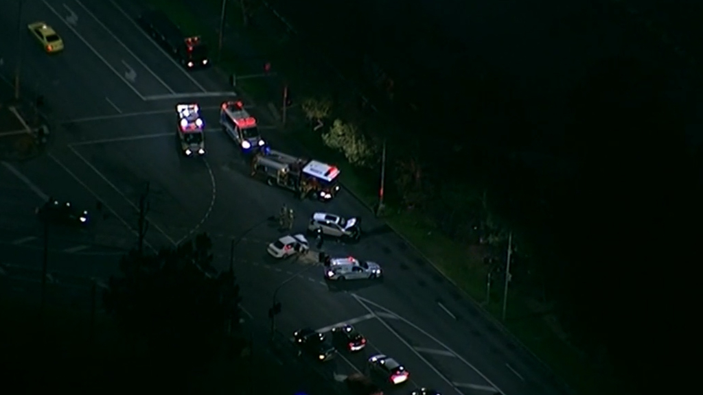 Pedestrian hit on Melbourne freeway