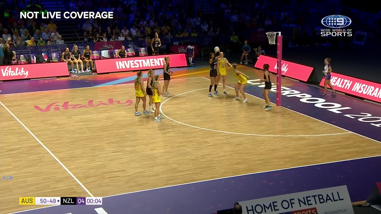 Silver Ferns shooter Maria Folau misses the game-tying shot in the final seconds as the Diamonds escape with a win