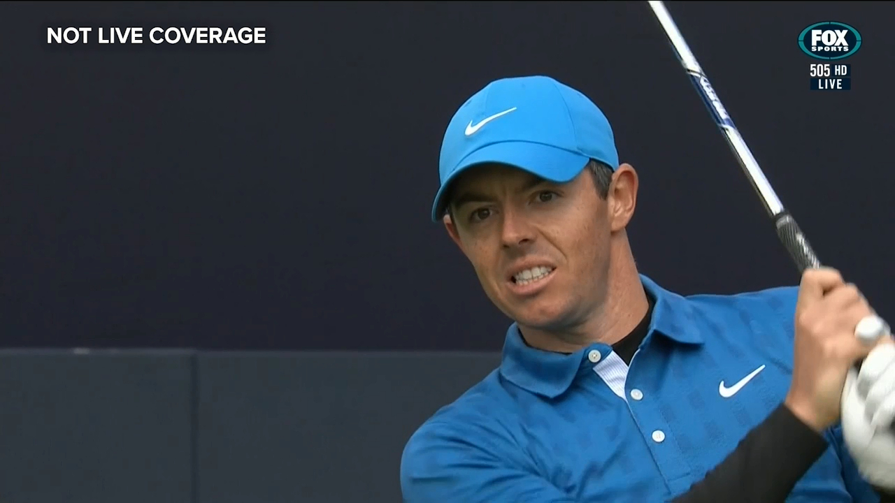 Northern Ireland's Rory McIlroy makes a horror start at the 2019 British Open with his first shot going haywire