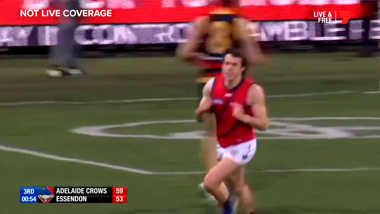 Andrew McGrath's goal completes a brilliant flowing team move from Essendon against Adelaide