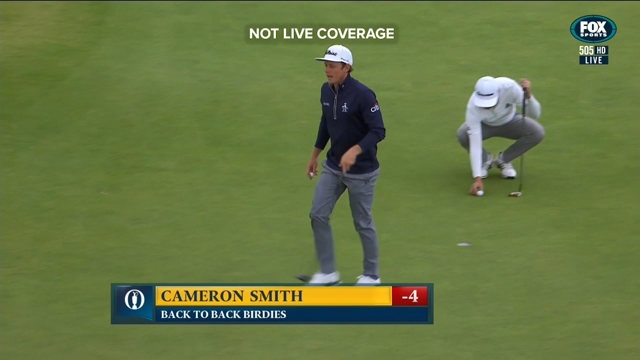 Cameron Smith carded a five-under par 66 in the second round at the British Open