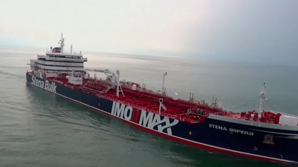Iranian troops hijack two British tankers