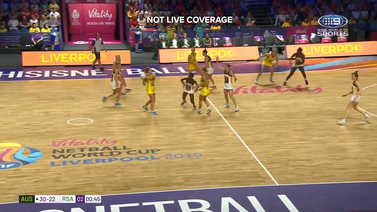 A superb long pass from Liz Watson set up a goal for Gretel Tippett in the World Cup semi final