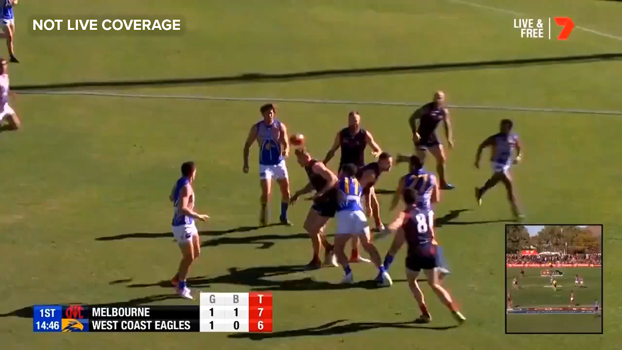Liam Ryan snaps truly to put the West Coast Eagles ahead against Geelong in Alice Springs