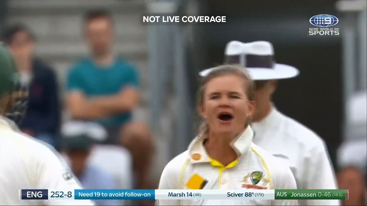Jess Jonassen picked up the big wicket of Nat Sciver on day four
