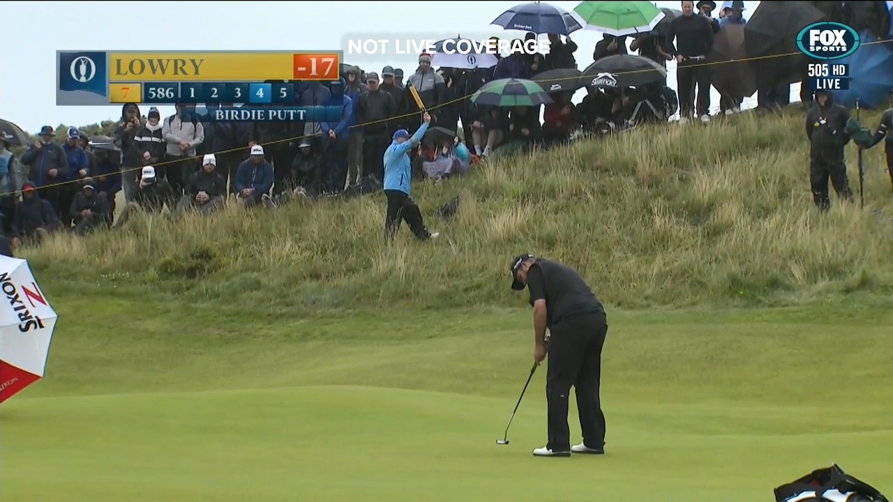 Shane Lowry made a rapid start to the final round at the British Open