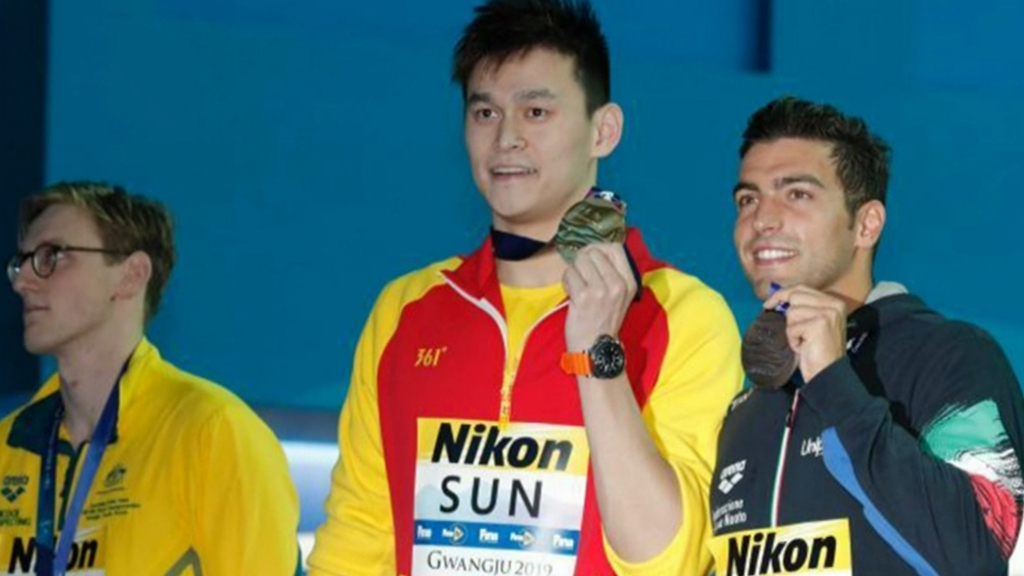 Mack Horton's Sun Yang boycott, swimming world championships video