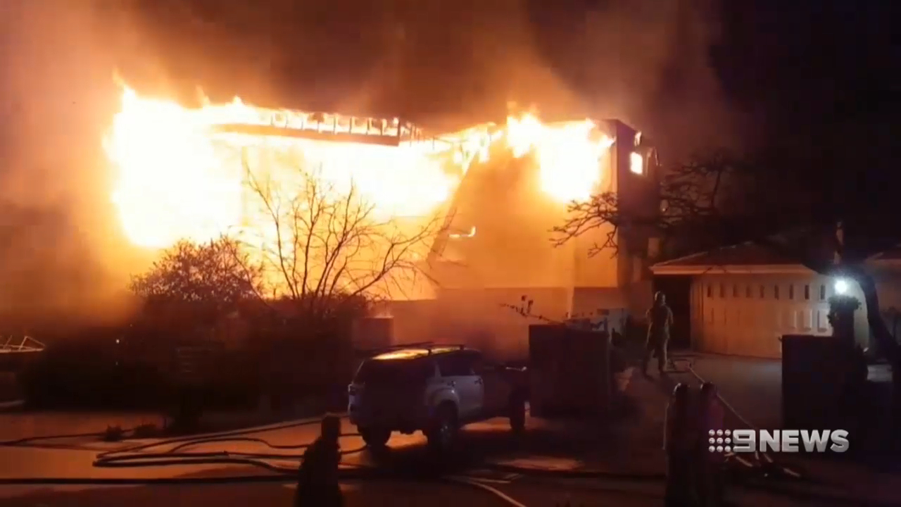Mullaloo home goes up in flames