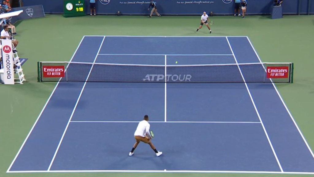 Kyrgios wins in style in Cincinnati