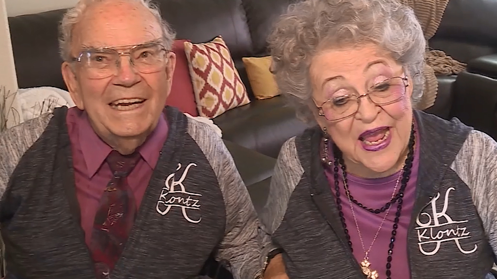 Couple match their outfits for seven decades