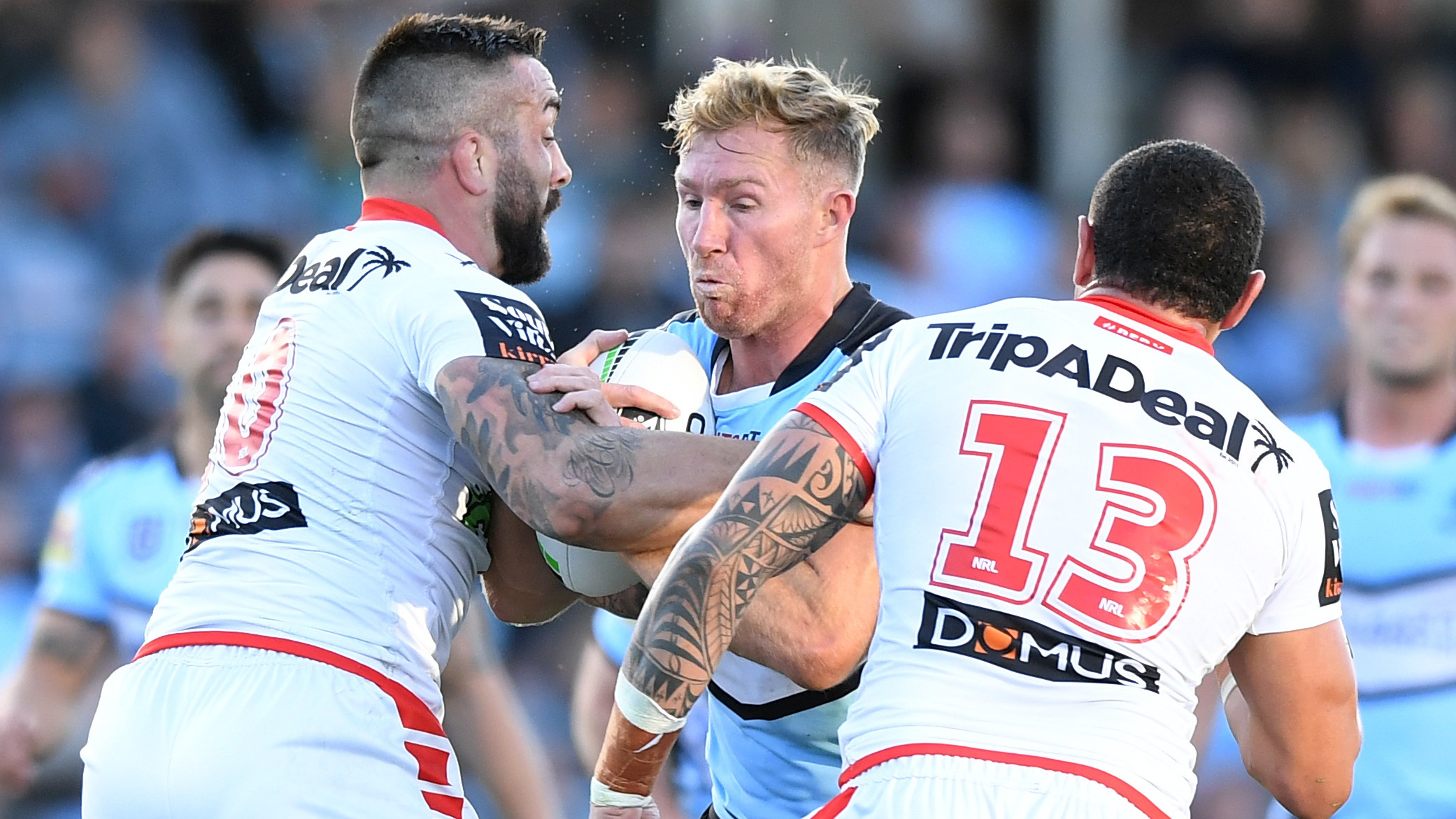NRL Video 2019: Highlights Sharks v Dragons - Round 22