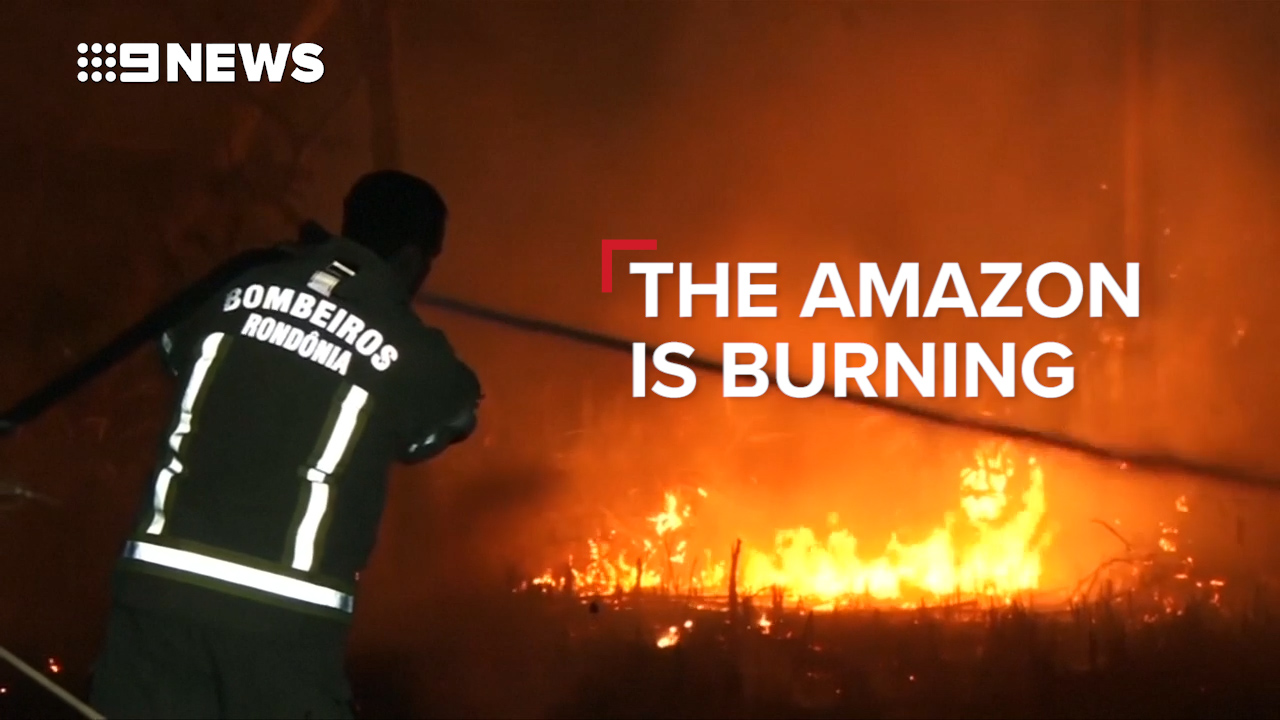 Amazon fires burning at record rate