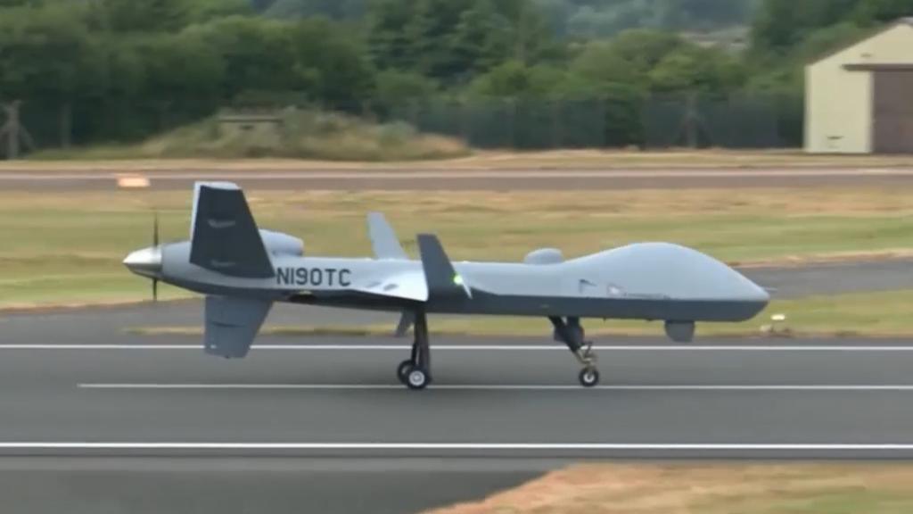 UK air force unveils new anti-terrorist drone