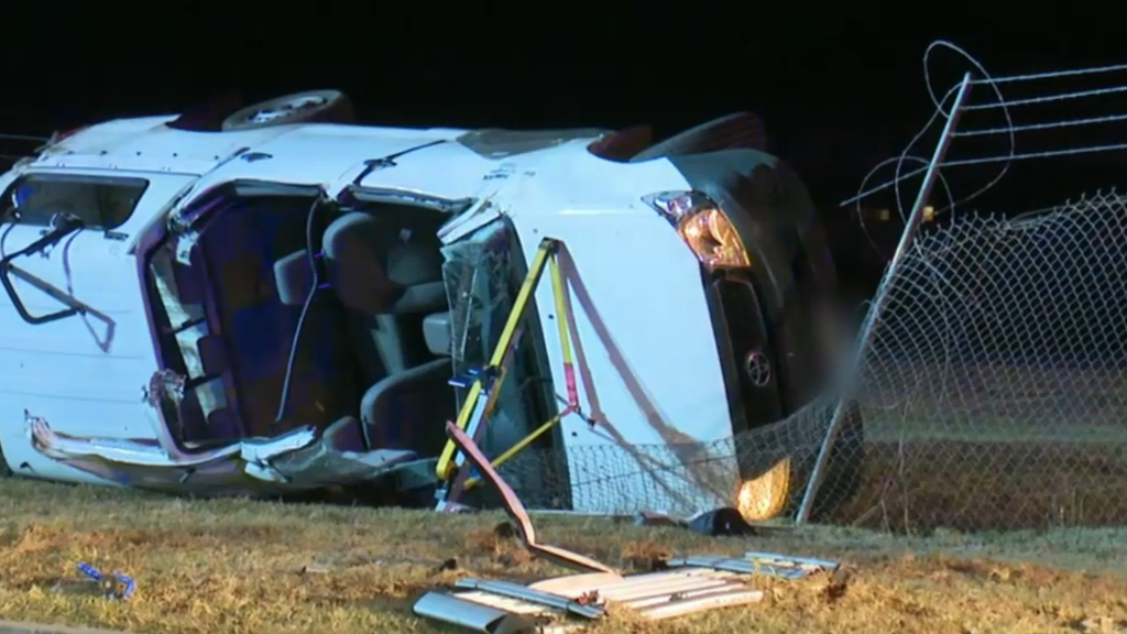 Two teens injured after ute carrying eight people overturned
