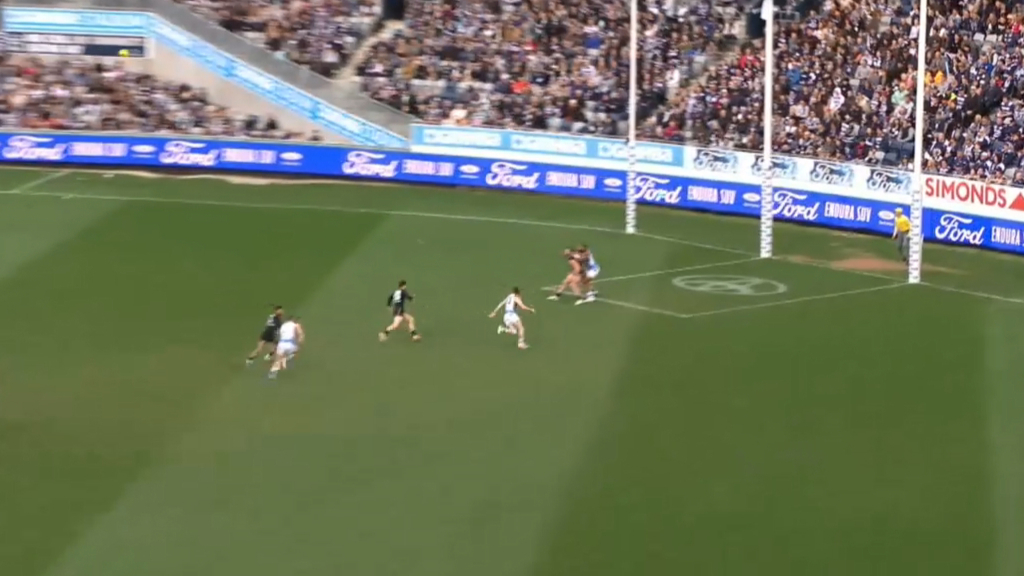 Dangerfield pounds one from long range