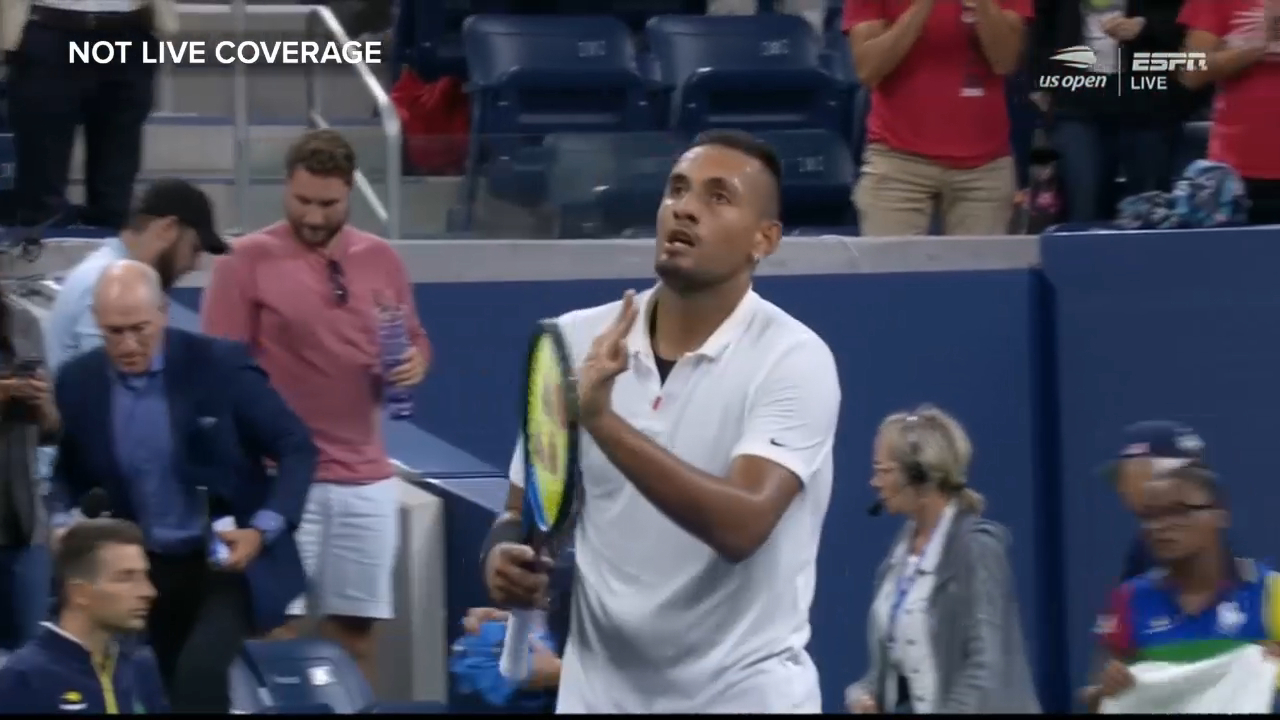 The moment that enraged Kyrgios' opponent