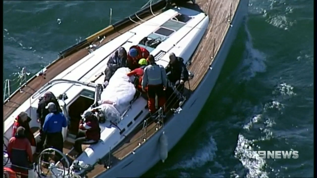 Melbourne news Teen sailor hosptialised after yacht loses its