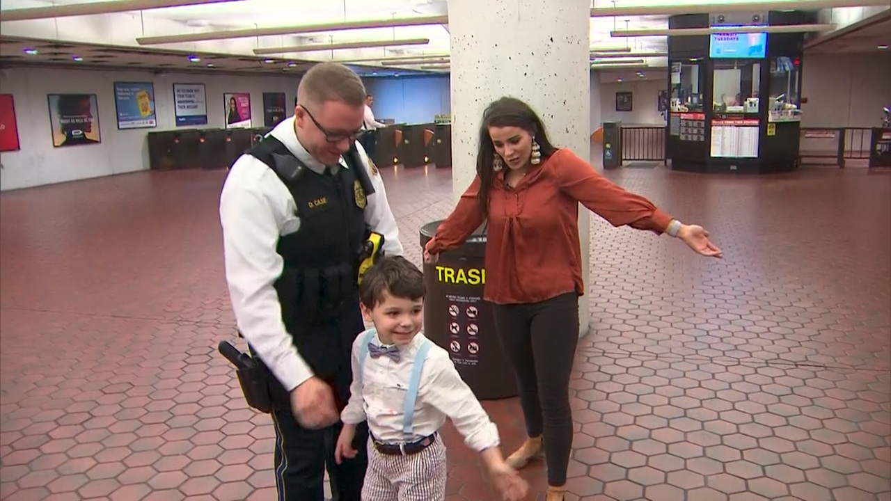 Boy with autism reunited with officer who performed random