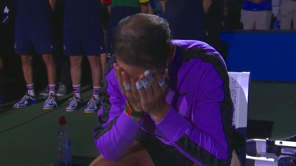 Nadal breaks down in tears after US Open win