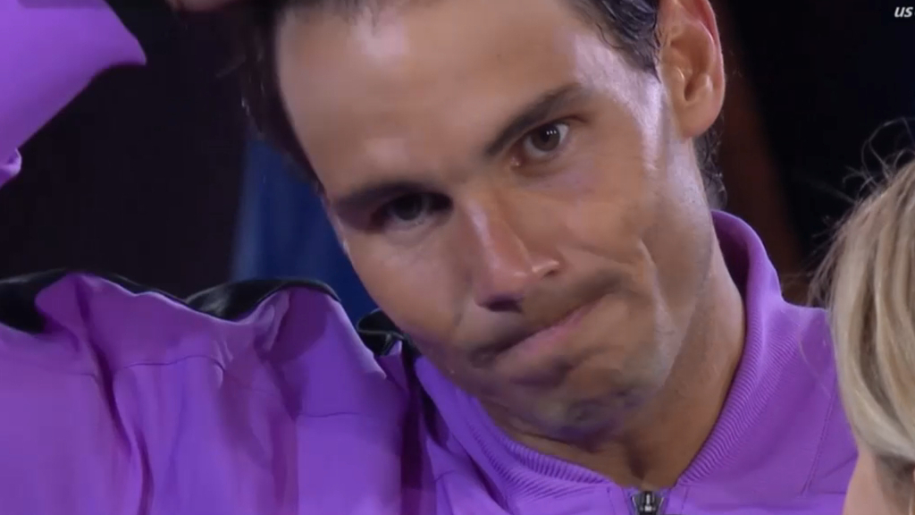 Nadal gets emotional thanking the crowd