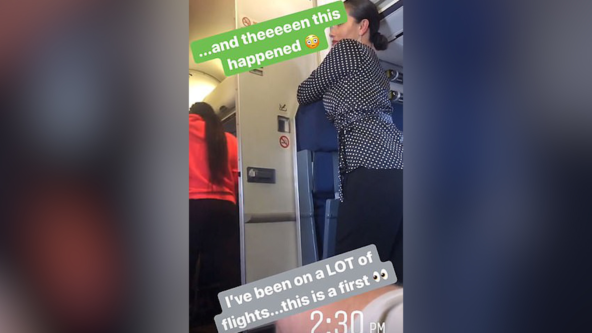 Couple join mile high club, awkwardly exit toilet together