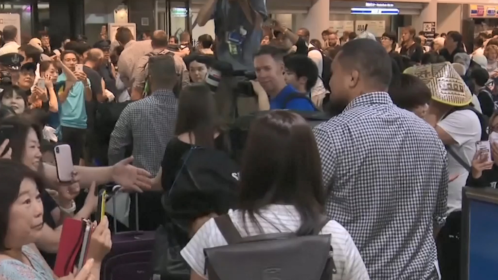 All Blacks arrive in Japan
