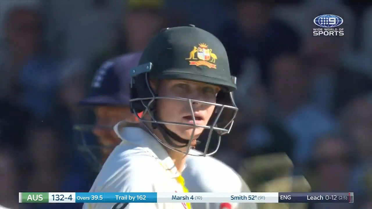 Smith brings up 10th consecutive Ashes fifty