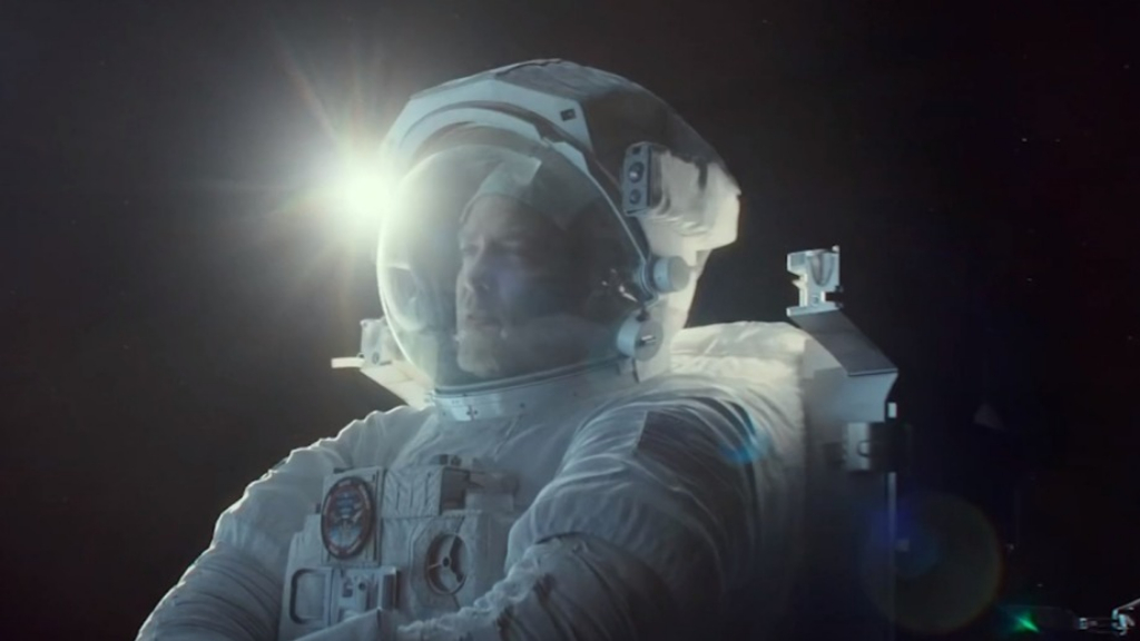 Brad Pitt makes phone call to an astronaut in an International Space Station