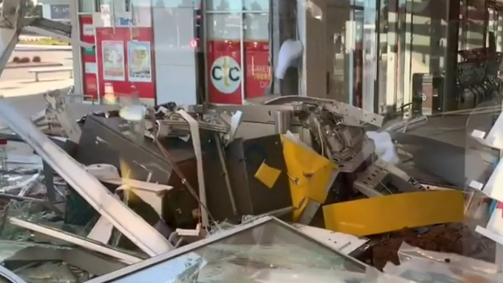 ATM thieves ram loader into shopping complex