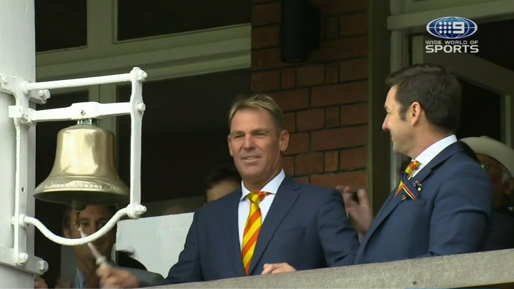 Warne hit for six