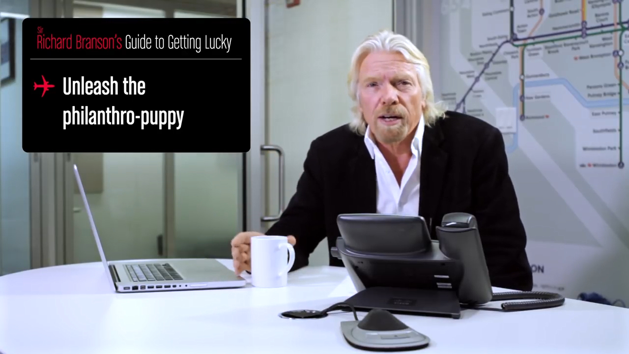 Sir Richard Branson's guide to getting lucky