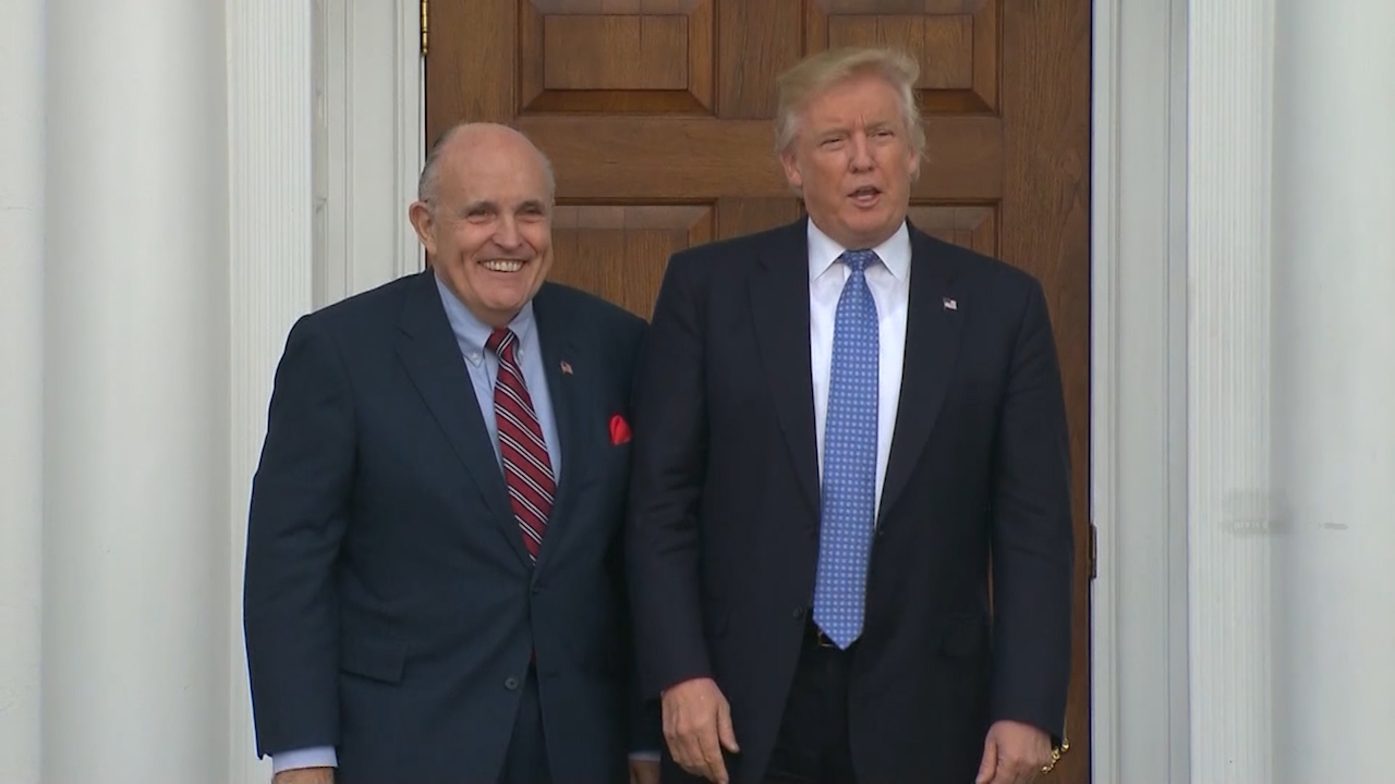Trump defending longtime friend Rudy Giuliani amid federal investigation
