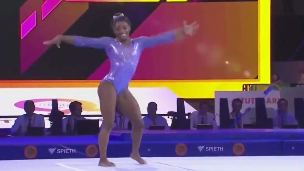 Biles becomes most decorated gymnast ever