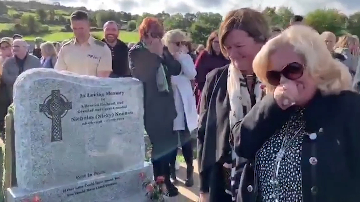 Irish grandfather pranks family at his own funeral