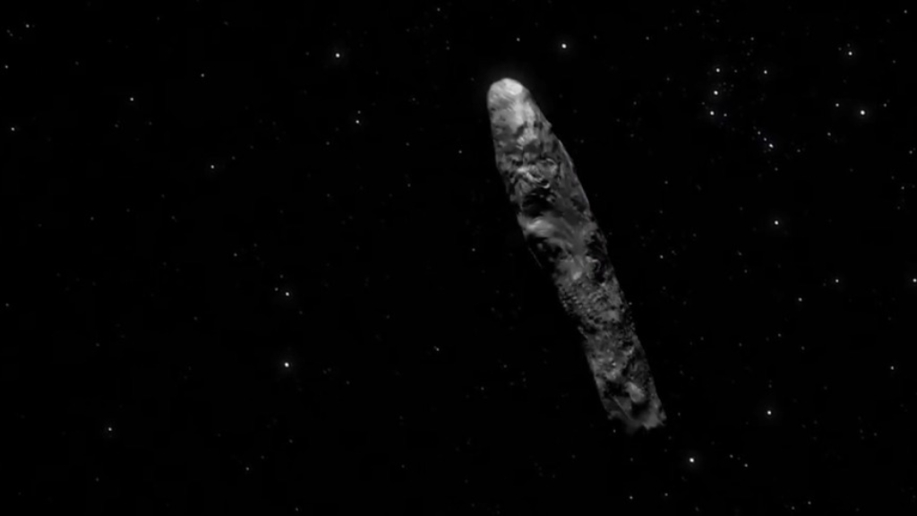 Here is the first observed interstellar object in solar system