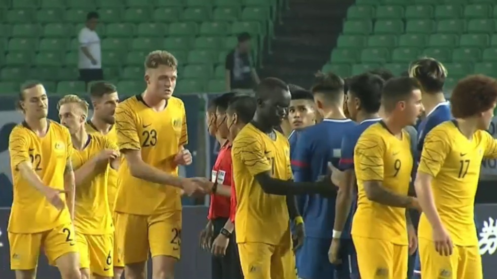 Socceroos score seven against Taiwan
