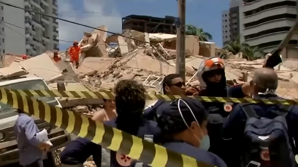 Brazilian building collapses