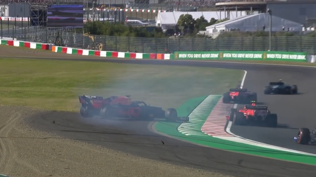 Leclerc and Verstappen collide in Japan