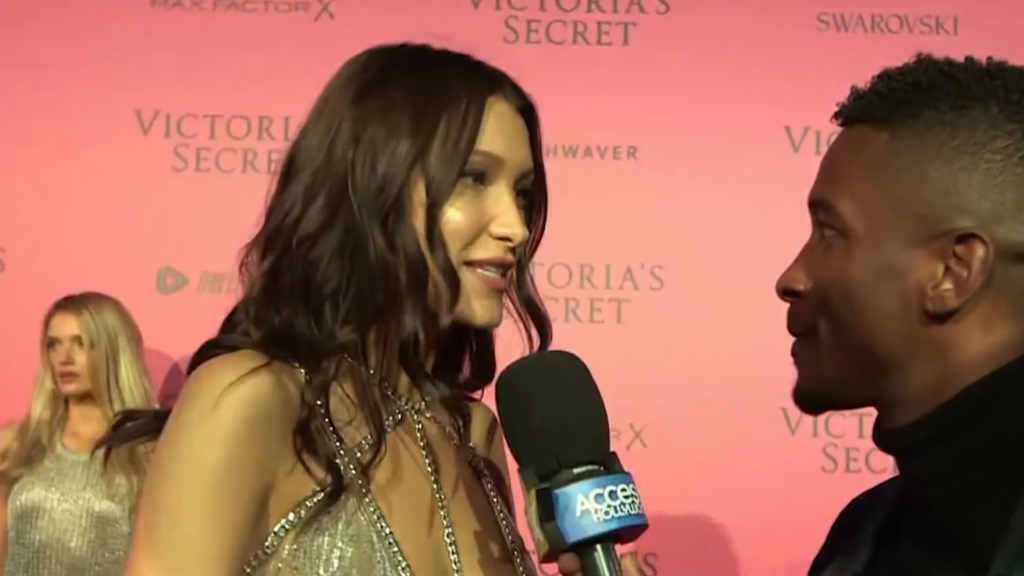 Bella Hadid reacts to Victoria's Secret debut