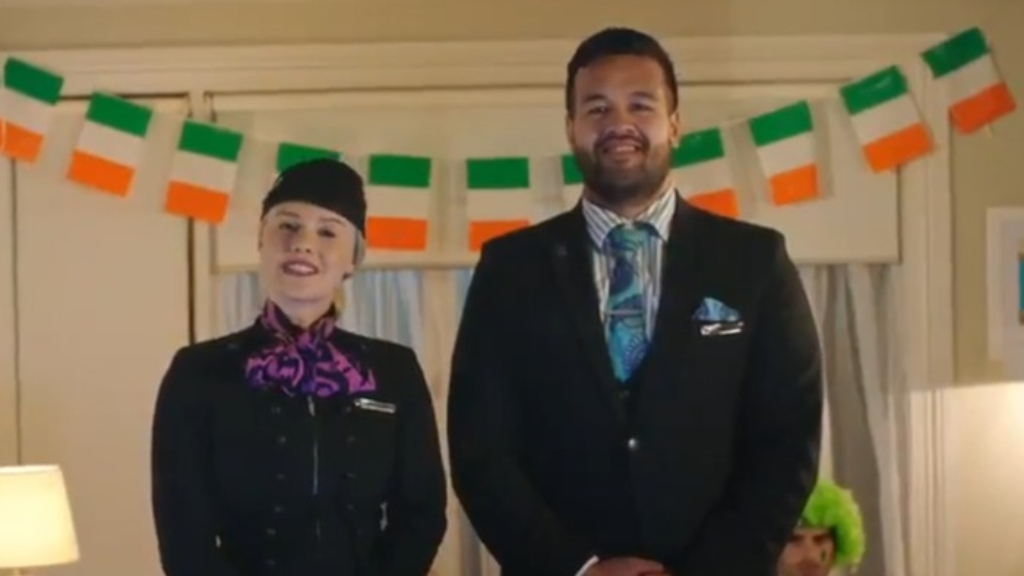 Air NZ troll Irish fans