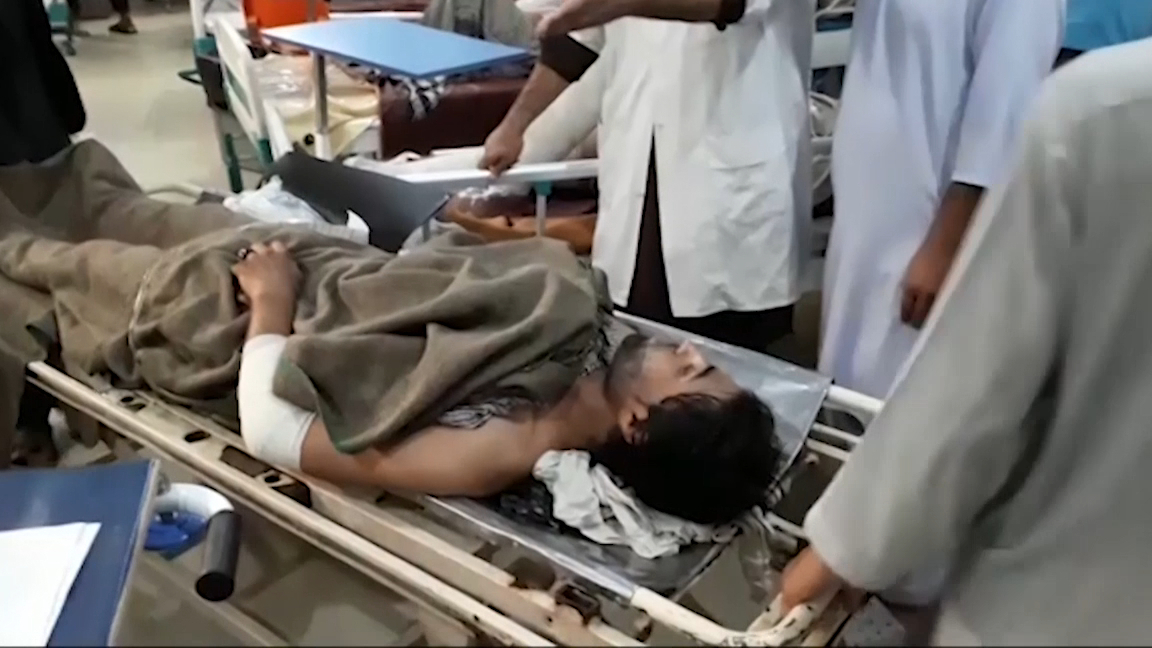 Blasts in Afghanistan mosque leave 62 dead
