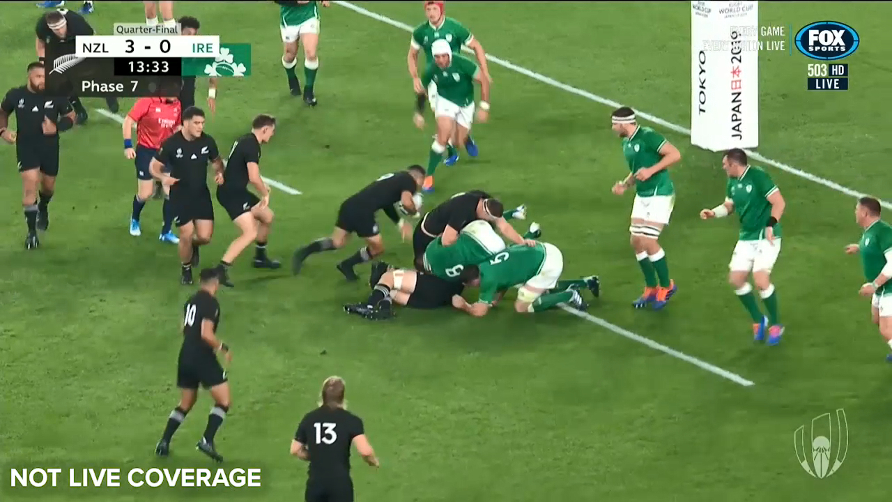 RWC 2019: Aaron Smith scores the first try of the night for New Zealand against Ireland